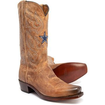Lucchese DC Cowboy Boots - Goat Leather, Snip Toe, 12
