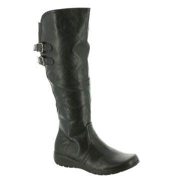 Easy Street Womens Tess plus Leather Closed Toe Mid-Calf