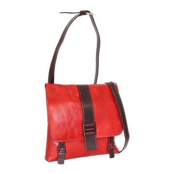 Nino Bossi Women's Zoey Small Leather Messenger Bag Tomato - US Women's One Size (Size None)