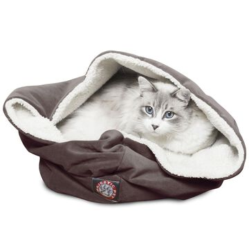Majestic Pet Chocolate Suede Burrow Bed