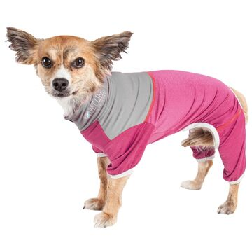 Pet Life Active Embarker Full Body Warm Up Pink Dog Sweaters, Large