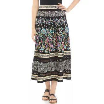 Rafaella Women's Patchwork Print Skirt -