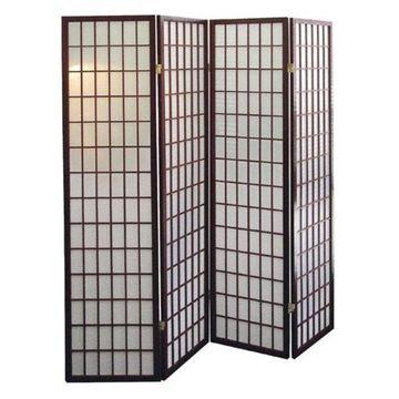 Ore International 4-Panel Room Divider, Cherry