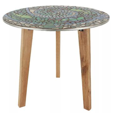 Decor Therapy Brittany Mosaic End Table, Multicolor