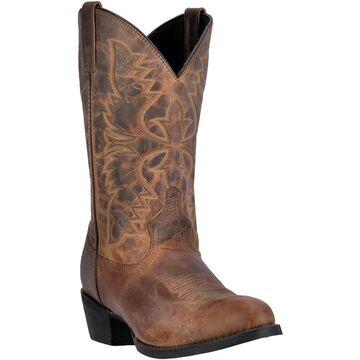 Laredo Mens Birchwood Cowboy Boot Round Toe, Tan