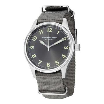 Stuhrling Original Men's Aviator Quartz Canvas Strap Watch (Stuhrling Original Men's Watch)