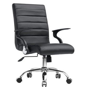 Fine Mod Imports Timeless Office Chair, Black