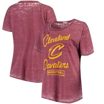 Cleveland Cavaliers Junk Food Women's Free Throw Ex-Boyfriend Burnout Tri-Blend T-Shirt - Wine