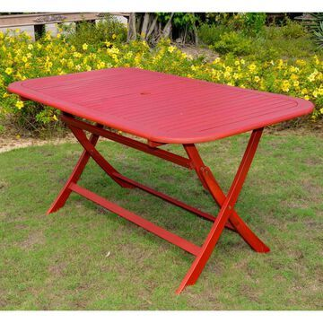 International Caravan Royal Fiji Rectangular Folding Patio Table