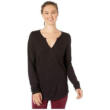 tentree Moraine Long Sleeve Top (Meteorite Black) Women's Clothing