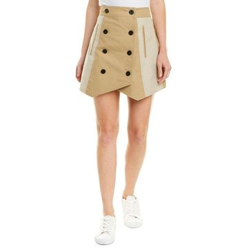 Derek Lam 10 Crosby Womens Double-Breasted Trench Skirt
