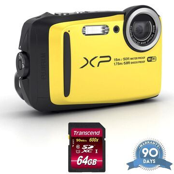 FUJIFILM FinePix XP140 Digital Camera (Yellow) - with Memory Card -