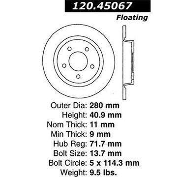 Stoptech 126.45067SL Auto Part