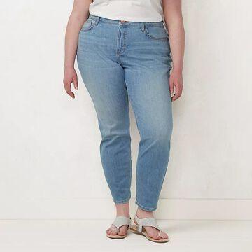 Plus Size LC Lauren Conrad Stretch Skinny Jeans, Women's, Size: 22 Tall, Light Blue