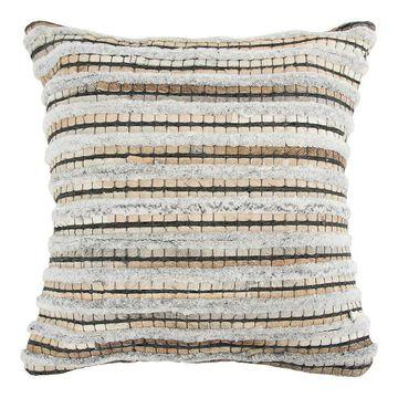 Rizzy Home Donny O Home Throw Pillow, Beig/Green, 20X20