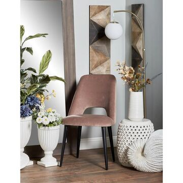 Modern Light Brown Wood Fabric Cushioned Dining Chair by Studio 350