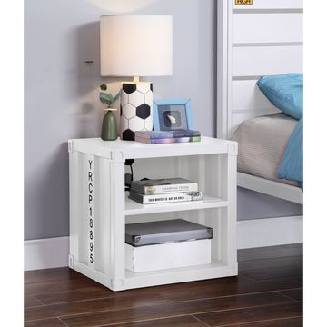 ACME Cargo Nightstand in White