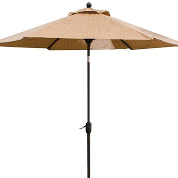 Hanover Brown Monaco 9 Tiltable Umbrella