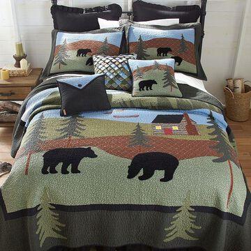 Donna Sharp Bear Lake Quilt, Multi, Full/Queen