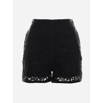 Valentino Shorts Made Of Floral Lace