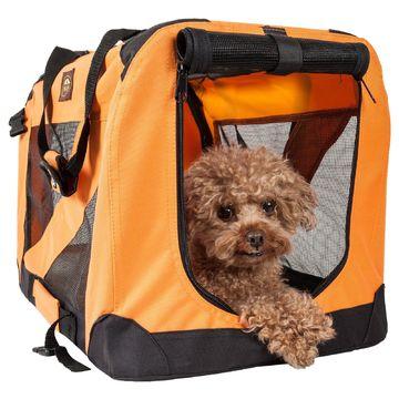 Pet Life Folding Zippered 360 Degree Vista View House Pet Crate in Orange, 27