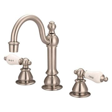 Water Creation Vintage Classic Widespread Lavatory Faucet With Pop-Up Drain