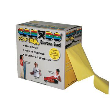 CanDo Perf 100 Low Powder Exercise Band: 100 yard roll with Perforations