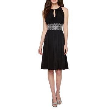 R & M Richards Sleeveless Embellished Fit & Flare Dress