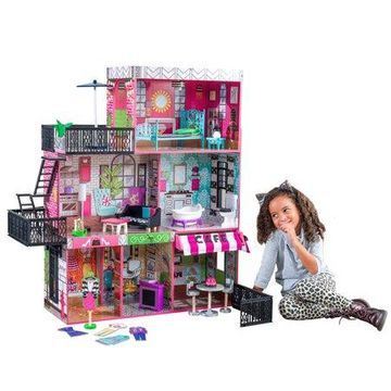 KidKraft Brooklyns Loft Dollhouse with 25 accessories included