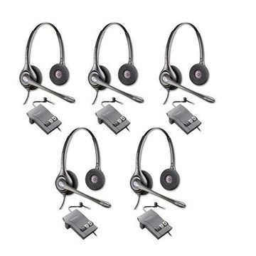 Plantronics SupraPlus HW261N with M22 Amplifier-5pack Dual Earpiece Wideband Headset