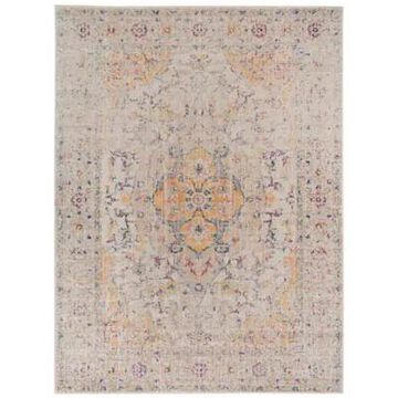 Amer Rugs Etracery Alma 5'7 X 7'6 Area Rug In Ivory/yellow