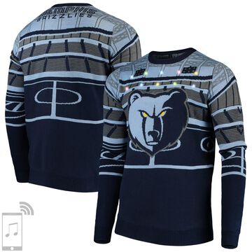 Memphis Grizzlies Courtside Bluetooth-Enabled Light Up Ugly Sweater - Navy