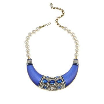 Heidi Daus Say It With Style Beaded Bib Drop 17 Necklace