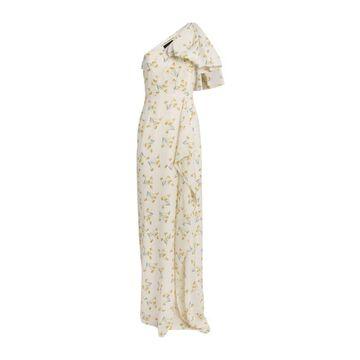 Roland Mouret Floral One-Shoulder Belhaven Gown