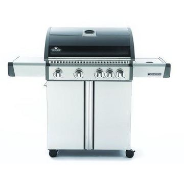 Napoleon Triumph 495 LP Grill with Side Burner, Black with Cover Included