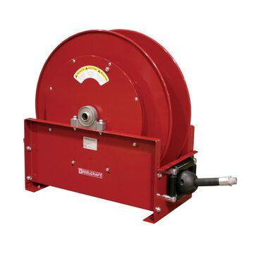FD9350 OLPBW 0.75 in. x 50 ft. Ultimate Duty 250 PSI Fuel with Hose Reel, Red