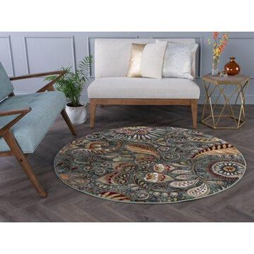 Bliss Rugs Giada Contemporary Indoor Round Area Rug