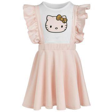 Little Girls Plaid-Patch Sequin T-Shirt and Dress