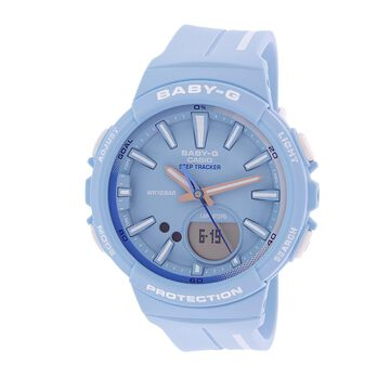 Casio Women's Baby-G BGS100RT-2A Blue Resin Japanese Quartz Sport Watch