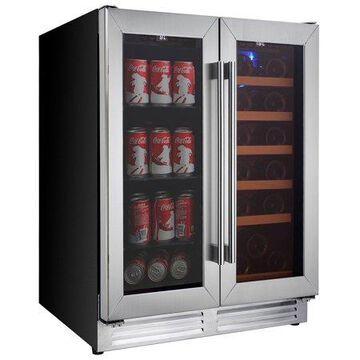 Koolatron Elite Series Dual Zone Built-In Wine Cooler Beverage Fridge with Digital Temperature Controls