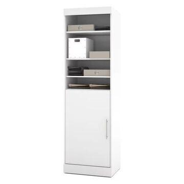 Bestar Nebula By Bestar 25 Storage Unit With Door, White