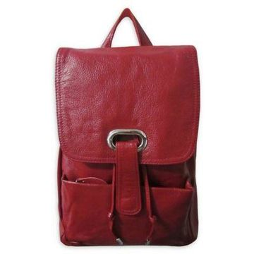 Amerileather Miles Backpack in Red