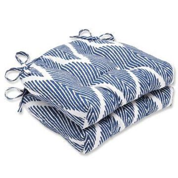 Pillow Perfect Bali Chair Pads in Blue (Set of 2)