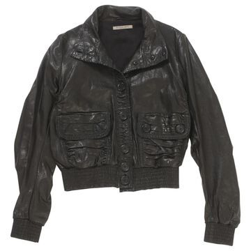 Bottega Veneta Black Leather Jackets