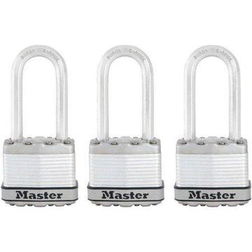 Master Lock Padlock M1XTLF 1-3/4in (44mm) Wide Magnum Laminated Steel Padlock with 2in (51mm) Shackle; 3 Pack