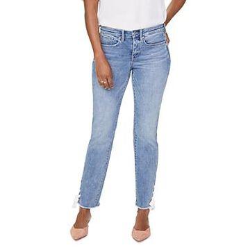 Nydj Sheri Laced Hem Slim Ankle Jeans in Coheed