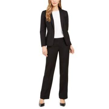 Le Suit One-Button Straight-Leg Pantsuit