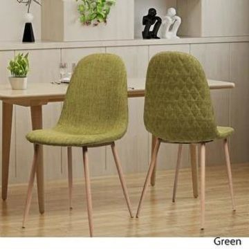Caden Mid-century Fabric Dining Chair (Set of 2) by Christopher Knight Home (Green)