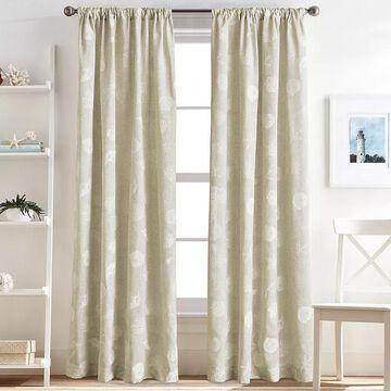 CHF Seashells Window Curtain, Natural, 50X63