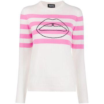 striped lips sweater